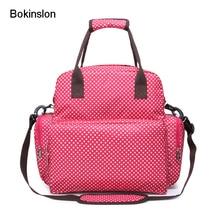 Bokinslon рюкзак Для женщин сумка Oxford Dot Pattern рюкзак для дам печати практичный рюкзак Для женщин Мода