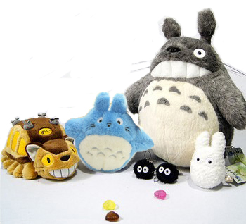 2015 New Peluche Totoro Cat Bus My Neighbor Totoro Family Plush Doll 6pcs/set Toys For Children High quality Pelucia hot sale 12cm foreign chavo genuine peluche plush toys character mini humanoid dolls