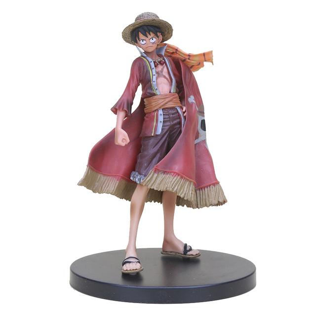 One Piece DXF Luffy Zoro Sanji Nami Nico Sabo The Grandline Men Lady 15th Anniversary PVC Action Figure