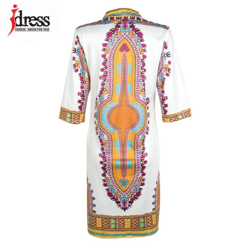 2017 Tunic Beach Dress New Boho Women Dress Sexy Sundresses Deep V Ethnic Dashiki African Print Big Size 3XL Woman SunDress Robe (4)