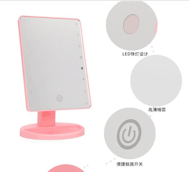 Desk type rotary LED cosmetic mirror Dimming makeup mirror For DressersDesk type rotary LED cosmetic mirror Dimming makeup mirror For Dressers