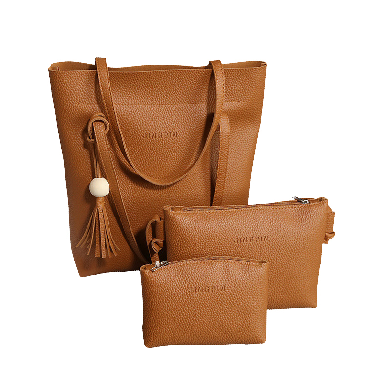 цена на Soft Leather Women Bag Set Luxury Brand 2018 Fashion Designer Female Shoulder Bags PU Casual Bags Set Handbag High Quality Tote