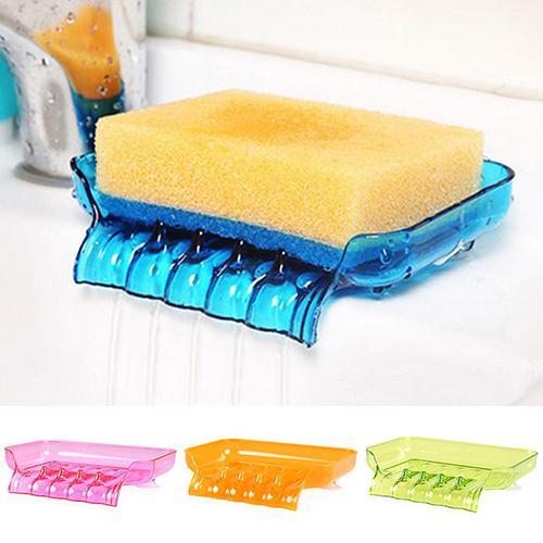 Kitchen Bathroom Toilet Soap Dish Storage Organizer Tray Holder Plastic Rack