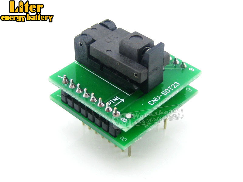 SOT6 TO DIP6 (B) Wells IC Test Socket Programming Adapter 0.95mm Pitch SOT6 SOT-23-3 SOT-23-5 SOT-23-6 PackageSOT6 TO DIP6 (B) Wells IC Test Socket Programming Adapter 0.95mm Pitch SOT6 SOT-23-3 SOT-23-5 SOT-23-6 Package