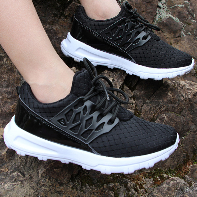 fa13c6888290 Student school shoes big boys outdoor sport shoes girls runing sneakers  solid footwear protect feet breathable shoes