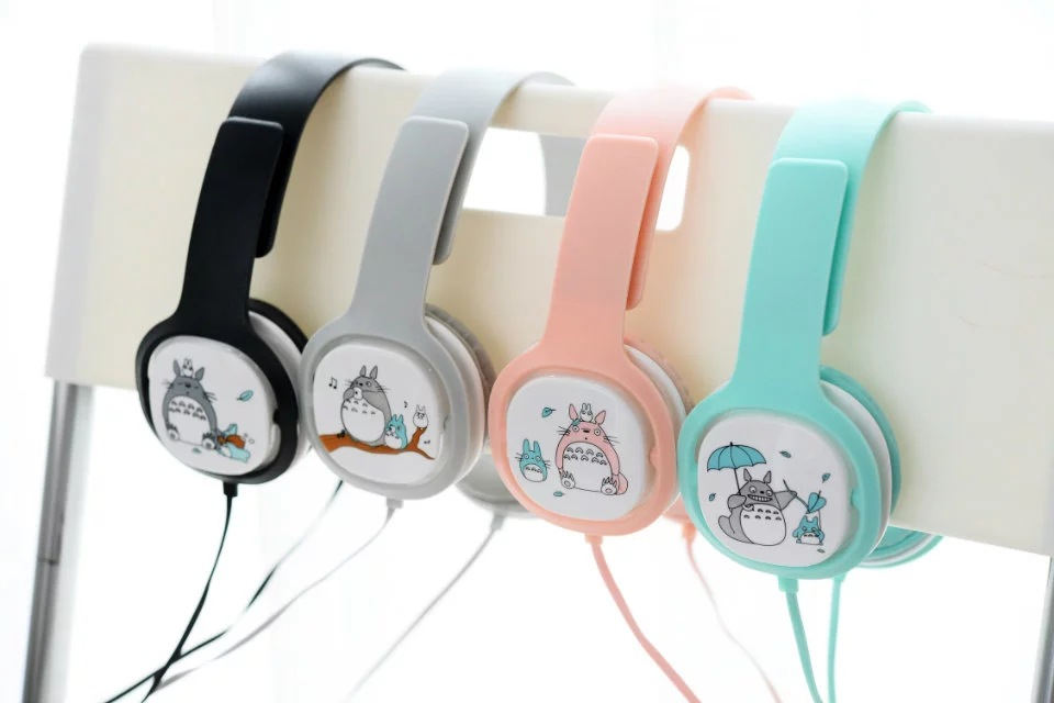 2017 Totoro wired stereo Headphone with Mic for mobile font b phone b font cute music