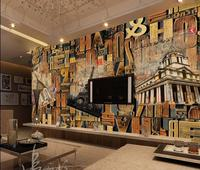 custom 3d wallpaper European style wood engraving english background wall decoration painting photo 3d wallpaper
