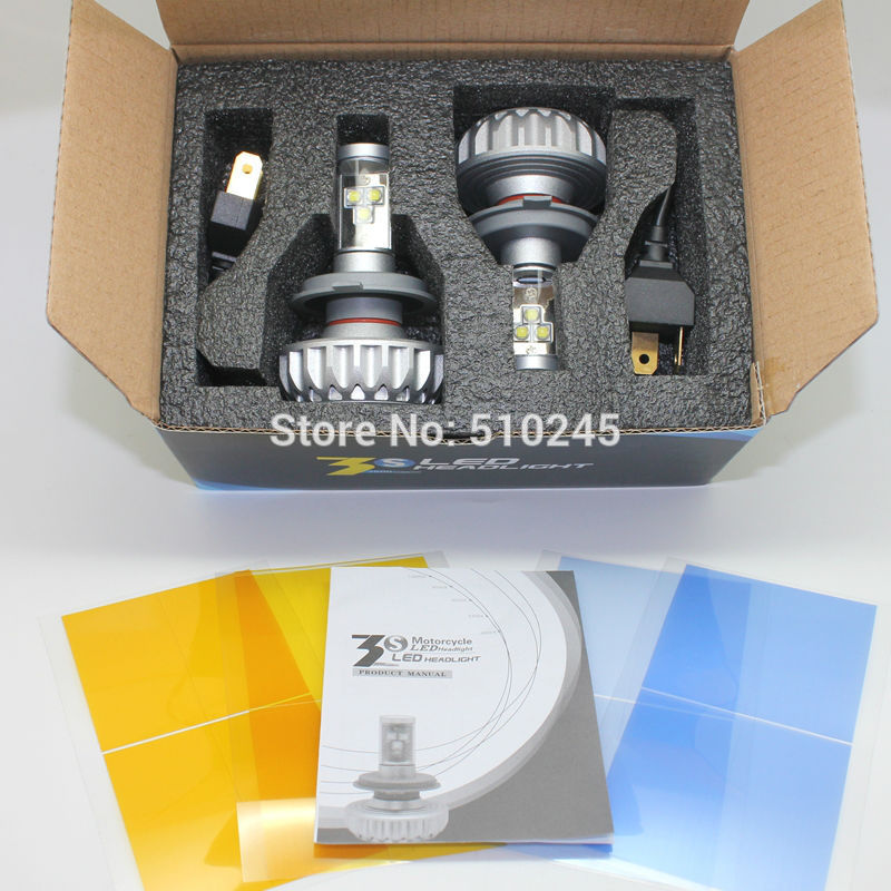 ФОТО 12V-24V Auto Car led headlamp light 9003 HB2 H4 H13 9004 9007 hi/lo dual beam 30W 3000LM 6500K  3000K 4300K 8000K 10000K