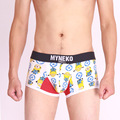 6pcs/lot men's underwear panda Cotton Boxer waist cotton underwear underwear pattern of small yellow people