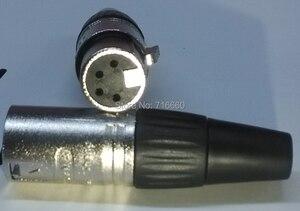 Image 3 - Free Shipping 4pin Neutrik design cannon XLR connector  20 pcs/lot (10pcs Female+10pcs Male )  for hot selling