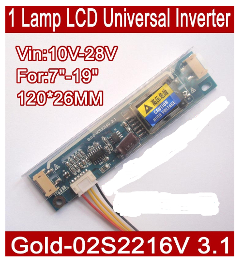 5PCS Gold-02S2216V 3.1 LCD CCFL Inverter,2 LAMP Universal Lcd Inverter Board For 2 CCFL LCD Panel