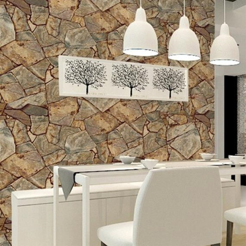 53 см X 10 м Классический камень reef обои спальня гостиная отель Ресторан ПВХ водонепроницаемый обои papel де parede