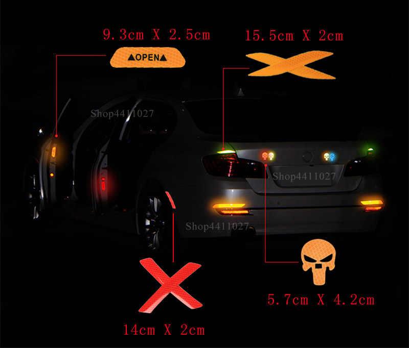 Автомобильная открытая Автомобильная дверь светоотражающая лента Предупреждение ющая Марка Наклейка для Jeep Wrangler JK TJ YJ Grand Cherokee WJ XJ Renegade sport 2000-2018