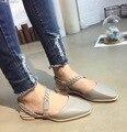 Белый Серый Плоские Туфли Комфорт Обувь для Женщин Крест Ловушка Мода Desinger Туфли Белые Ботинки