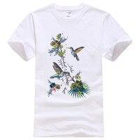 2018 Для мужчин Для женщин птицы завод футболка Летняя хлопковая Прохладный индивидуальные футболки плюс WNE