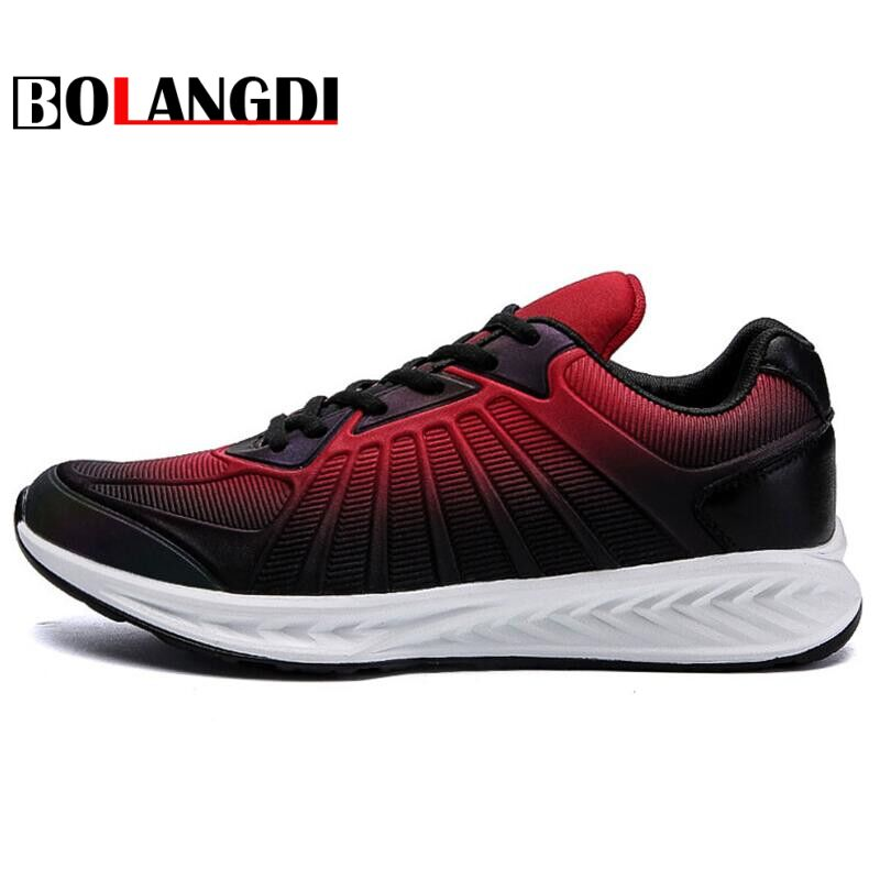 Bolangdi New Men Running Shoes Weave Breathable Ultralight Men Sneakers Athletic Outdoor shoes Trainers dropshping wholesale
