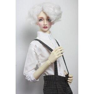 """Image 2 - BJD Puppe Weißes Hemd Outfits Top Kleidung Für Männliche 1/4 1/3 SD17 70 cm 17 """"24"""" Hoch BJD puppe MSD SD DK DZ AOD DD Puppe verwenden HEDUOEP"""