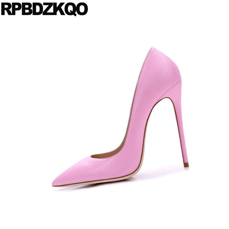 Luxe Mince rouge noir vert Toe Rose blanc 4 Exotique Extreme Vert Décapant Taille Chaussures Super Pointu Talons 34 rose De Pour Pompes 33 Ultra Danseuse Apricot Femmes Hauts Fn5qxgPw