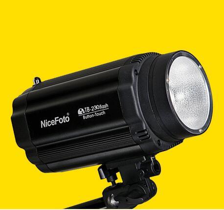 NiceFoto TB-230 small studio flash, flash lamp photography light ashanks small photography studio kit