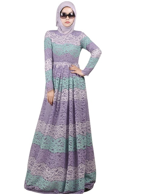 not include the hijabs long sleeves dress lace with lining