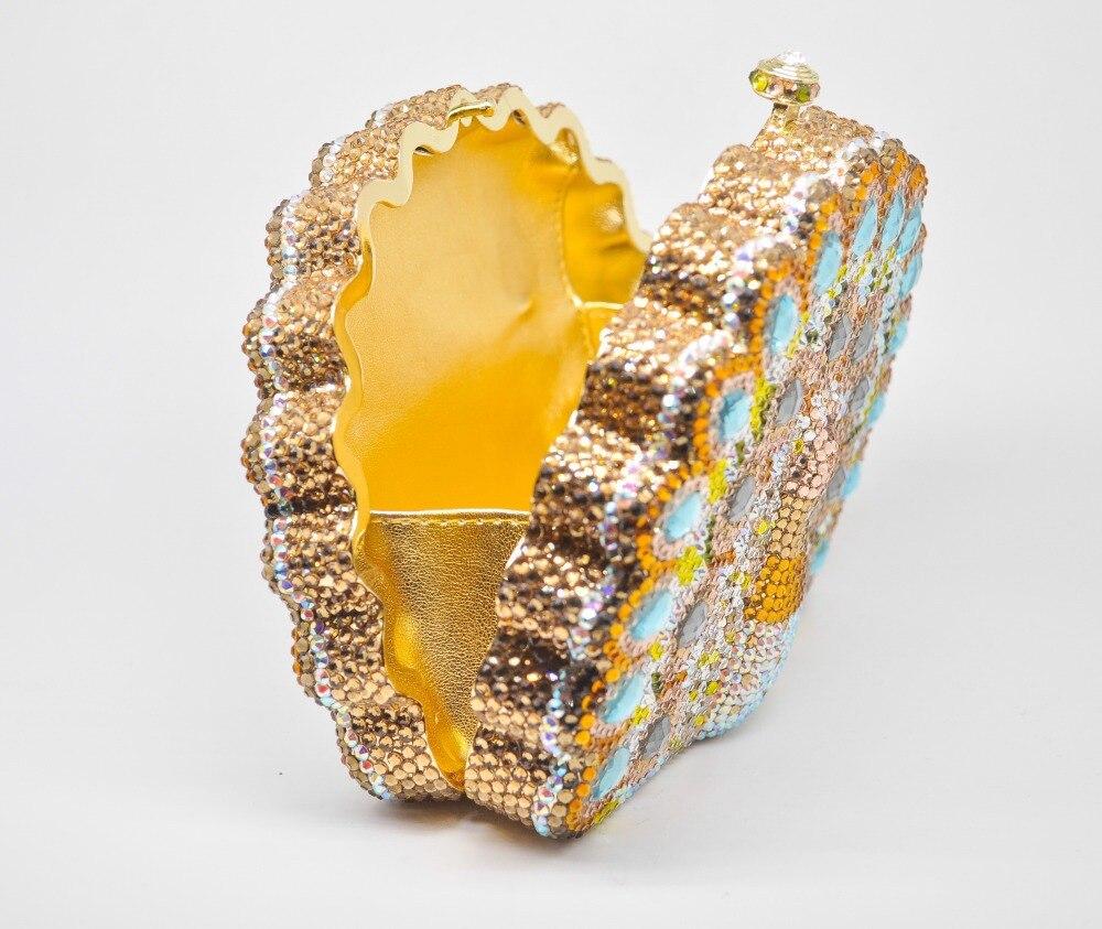Soirée Strass Femmes Nuptiale Main En Sac De 2 Minaudière Noce Paon 1 D'embrayage Fgg Diamant À Boutique Multi Métal q7OIwq6xC