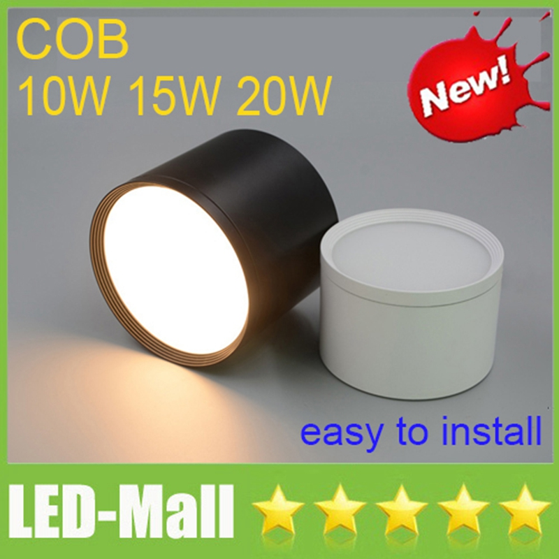 COB 10W 15W 20W Surface Mounted LED Downlights 110-240V Easy to install Ceiling Display Shop Dining Room Down Lights Lamps CE UL ...