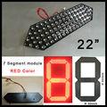"""22 """"красный цвет digita модуль числа, 7 сегмента, светодиодный дисплей для цен на нефть, светодиодные вывески, привели цены на газ, привело, пульт дистанционного управления"""