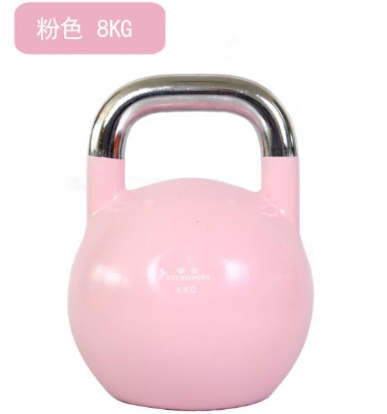 Fitness pot de levage haltère acier Kettlebell Fitness bouilloire-cloche peinture-haltère cuit au four