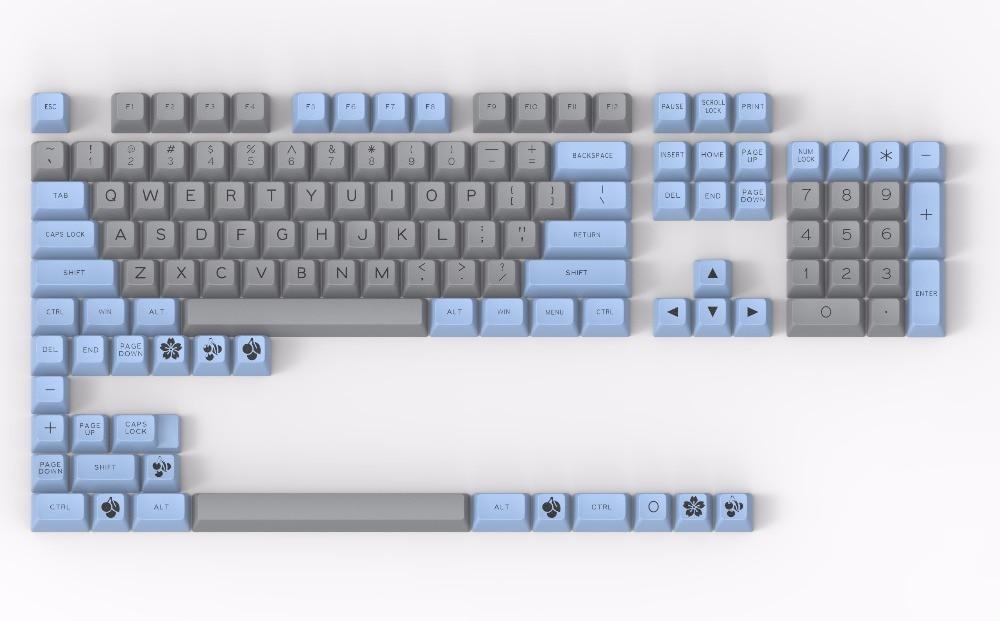 Mechanical keyboard keys MAXKEY keycaps SA keycap Double shot ABS gaming 127