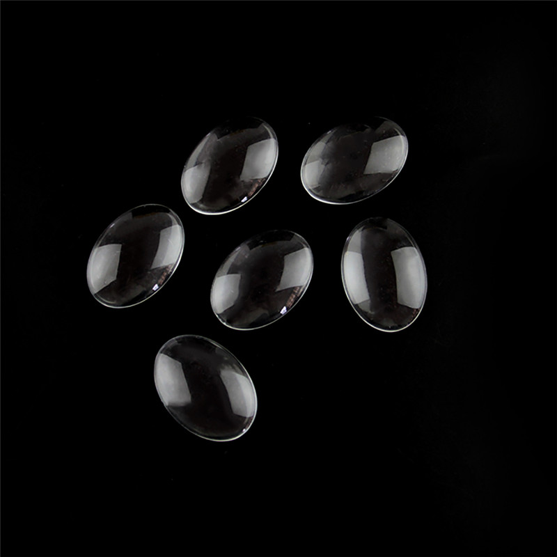 flat back perfectly smooth edges domes transparent cameo cover cabochon charm ZG6 6pcs 40x30mm width oval clear flatback glass cabochon