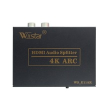 Wiistar HDMI Audio Splitter to HDMI+SPDIF+L/R Video Extractor 4K ARC 2CH/5.1CH for PS4 DVD
