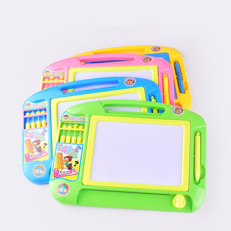 Large Children Intellectual Drawing Board Early Education Color Magnetic Picture Board Baby Plastic Writing Board font