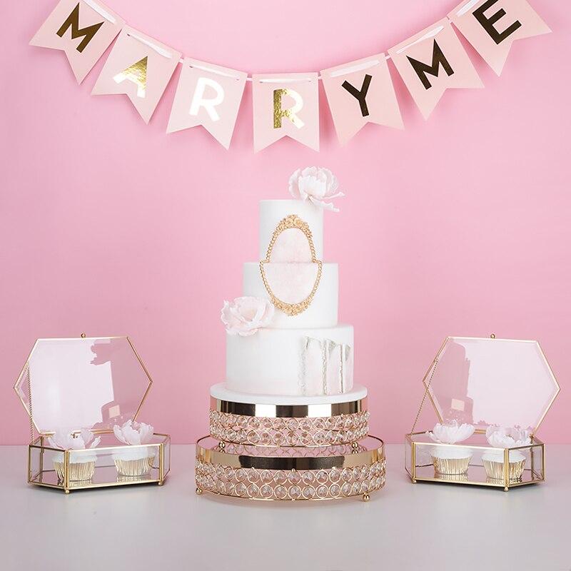 Приходят новые набор корзину кристалл торт золото зеркало лицо Кекс сладкие конфеты помадка Таблица бар украшение стола