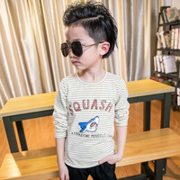 New Arrivals Trendy Cartoon Shark T Shirt For Baby Boys Small Striped Children T Shirts School