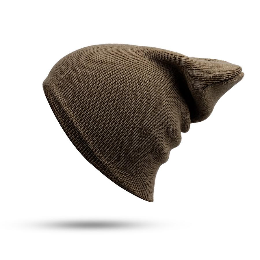 Hat Female Unisex Cotton Blends Solid Warm Soft HIP HOP Knitted Hats Men Winter Caps Women's Skullies Beanies For Girl Wholesale 4