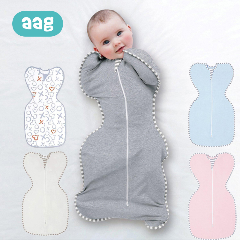 US Newborn Baby Infant Cotton Swaddle Blanket Wrap Sleeping Bag Sleepsacks 0-6M