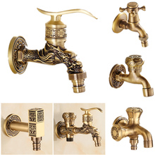 Full Copper Into The Wall Washing Machine Faucet Outdoor Garden Faucet Ceramic Spool Retro Torneira Bathroom Accessories