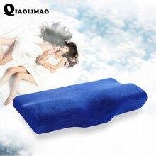 New Full Range Therapy Cervical Health Care Memory Foam Pillow Fiber Slow Rebound Memory Foam Orthopedic Velvet Butterfly Pillow