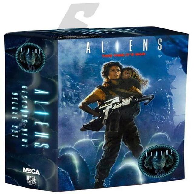 NECA Aliens 30th Anniversary Resgatando Newt Deluxe Set Vogue Ripley e Newt 18 cm KT3346