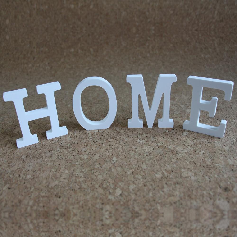 Купить с кэшбэком hight 5cm Artificial wood Wooden White Letters Alphabet ZAKKA wedding decoration Home Decoration imitation wood letter