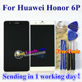 "Alta qualidade new lcd display + touch screen digitador assembléia de vidro para huawei honor 6 plus honor 6 p 5.5 ""a Cor preta/Branca"