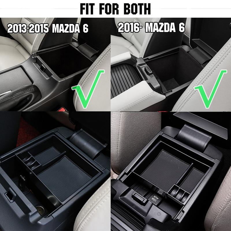 For Mazda 6 Atenza 2013-2015 Black Armrest Secondary Storage Box Glove Pallet