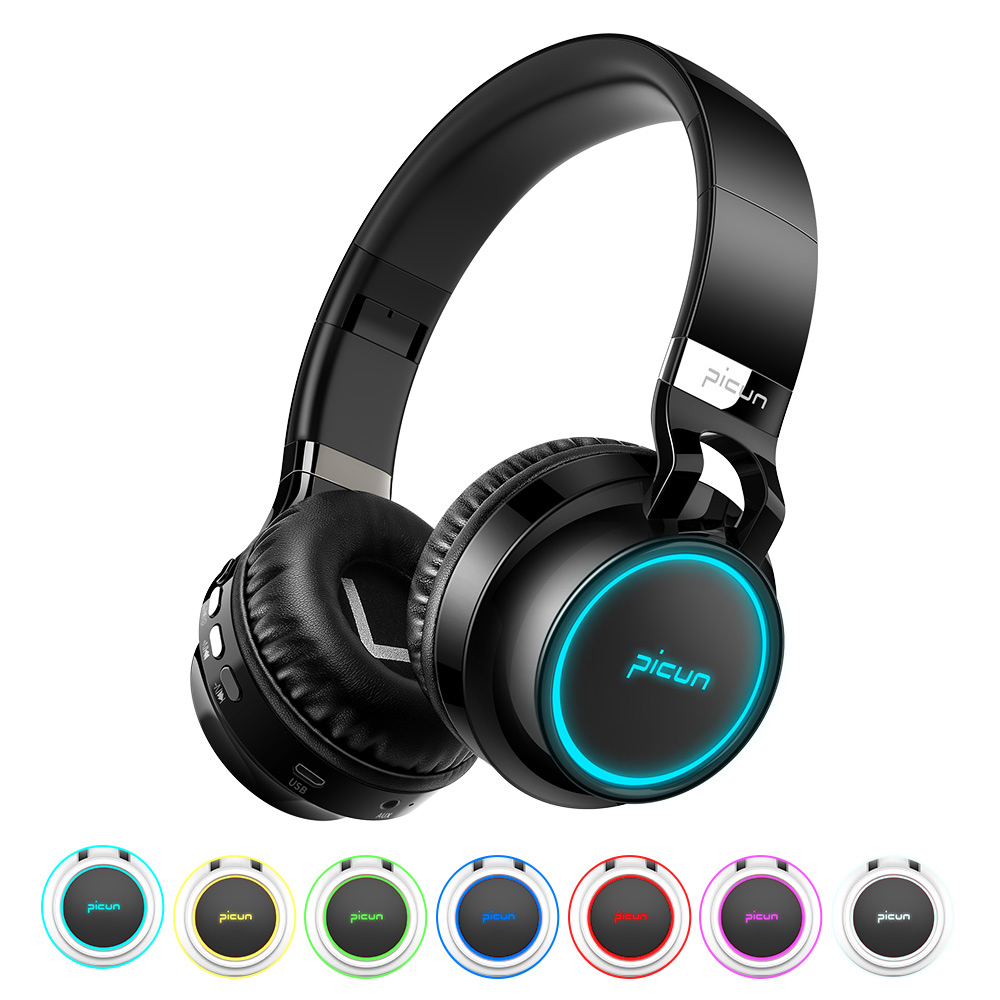 Sound Intone P60 Wireless Bluetooth Headphones LED Over Ear Foldable Headphone 20h Playtime TF Card 3D Stereo Bluetooth Headset купить в Москве 2019