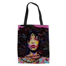 ELVISWORDS Casual Handbags for Women Bags Black Afro Girls Prints Totes Bag African Ladies Keep Calm Shoulder For Female