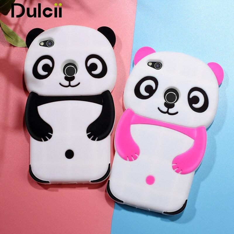 Dulcii For Huawei P8 Lite 2017 / Honor 8 Lite Cute 3D Panda Silicone Case Cover