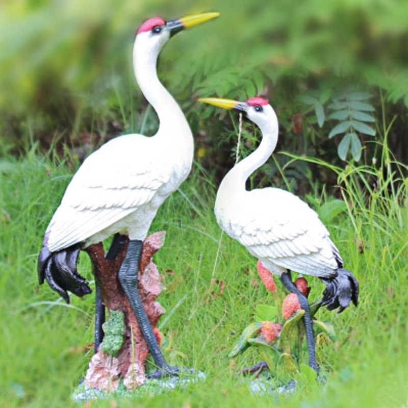 Great Aliexpress.com : Buy Crafts Resin Toy Animal Artificial Garden Ornaments  1PCS LOVELY Sculpture Red Crowned Crane Free Shipping Lovers Gifts From  Reliable ...