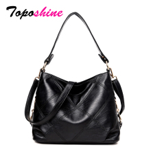 Toposhine Brand Top Quality PU Leather Women Handbag Casual Elegant Female Shoulder Bag Solid Dress Large Business Lady Tote Bag