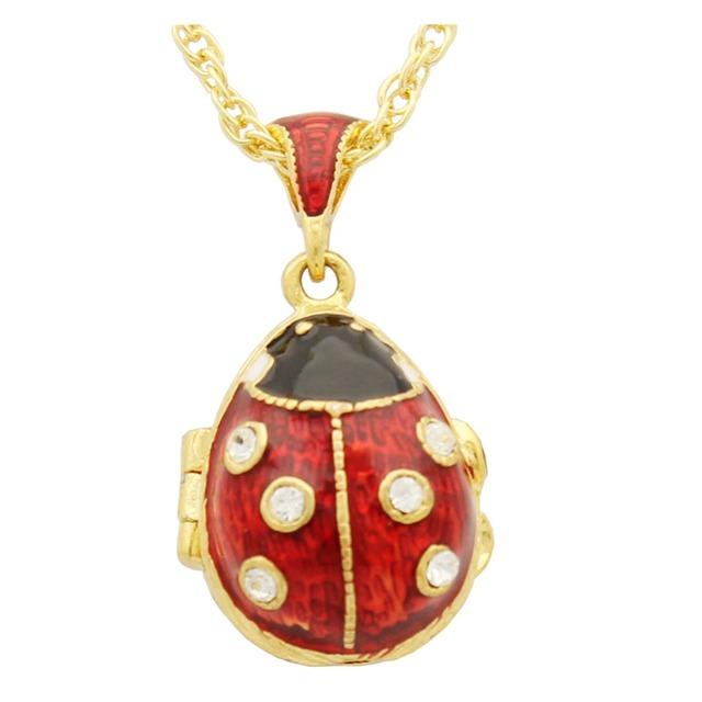 Envío gratis Beatles Europeos Faberge huevo colgante, collar cristalino de la manera para los regalos de Navidad
