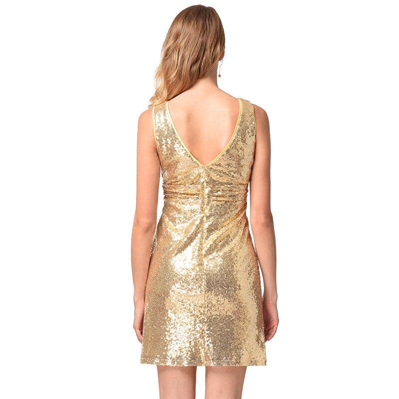 Di Eleganti Vestito Vestidos Abiti Sexy Donne Dal Carro Nuovo Plus Size Golden Mini Qualità Sofisticato Paillettes Alta Vestiti Femminili Armato Estate w0nPk8OX