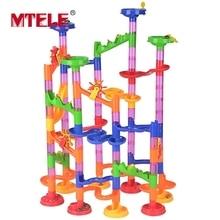 MTELE Brand Big Size DIY Construction Marble Race Run Maze Balls Track Plastic house High Quality